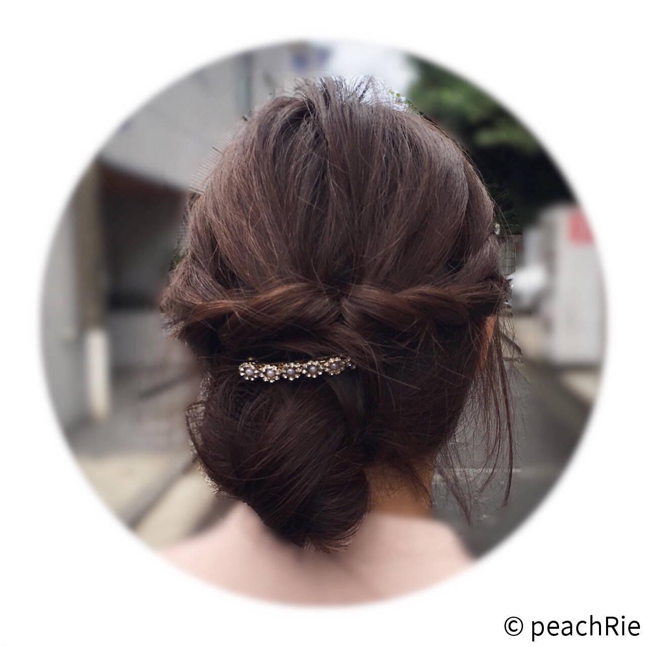 ショート 編み込み 大人かわいい ヘアアレンジヘアスタイルや髪型の写真・画像