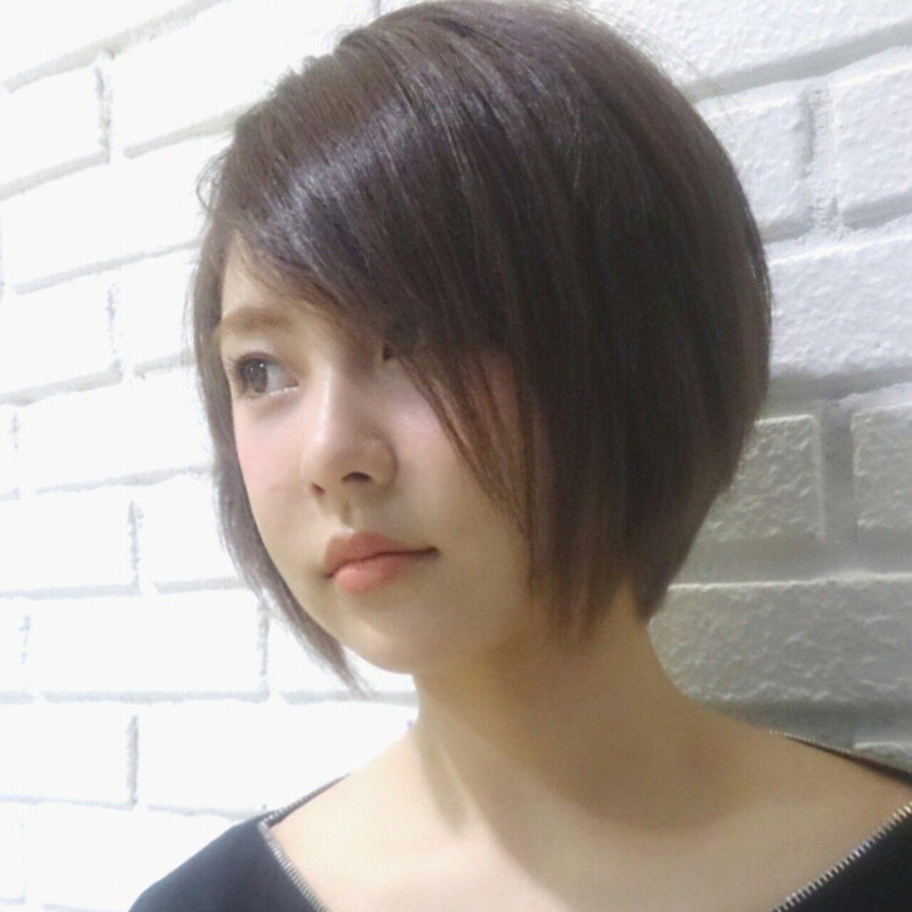 アッシュ 外国人風 大人かわいい ボブヘアスタイルや髪型の写真・画像