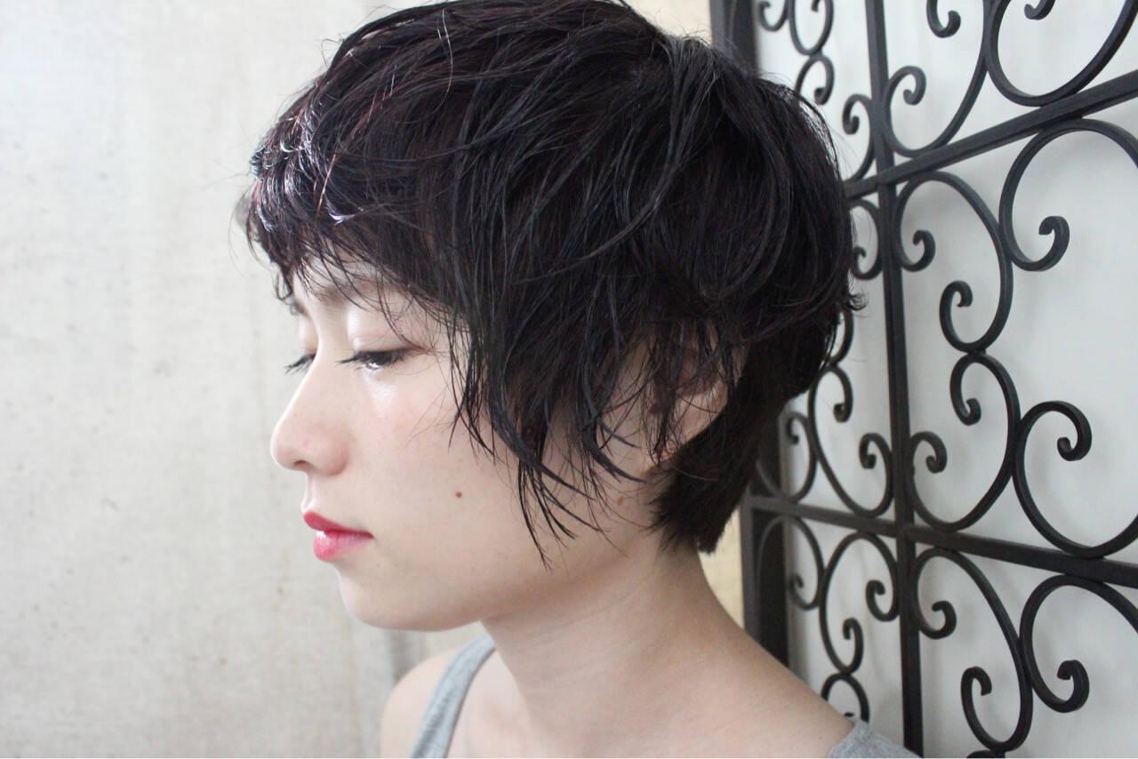 ピンクアッシュ 透明感 ナチュラル 秋ヘアスタイルや髪型の写真・画像