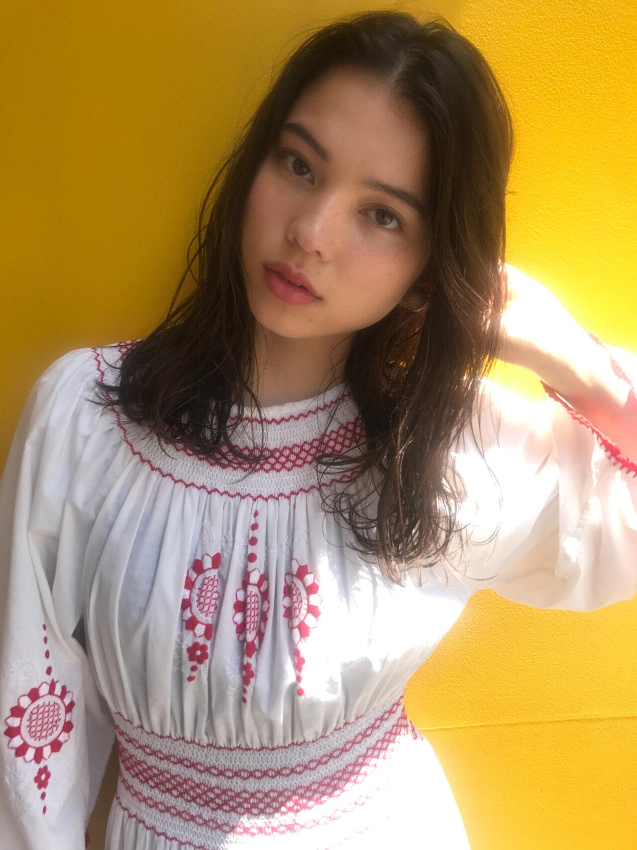 外国人風 透明感 抜け感 フェミニンヘアスタイルや髪型の写真・画像