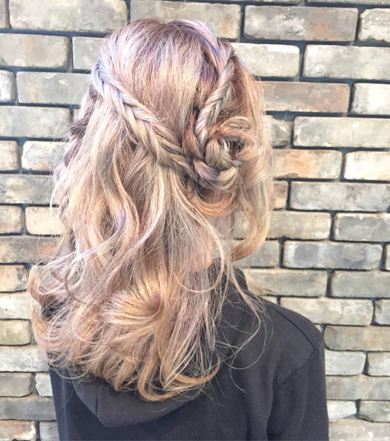 外国人風 ショート ミディアム 簡単ヘアアレンジヘアスタイルや髪型の写真・画像