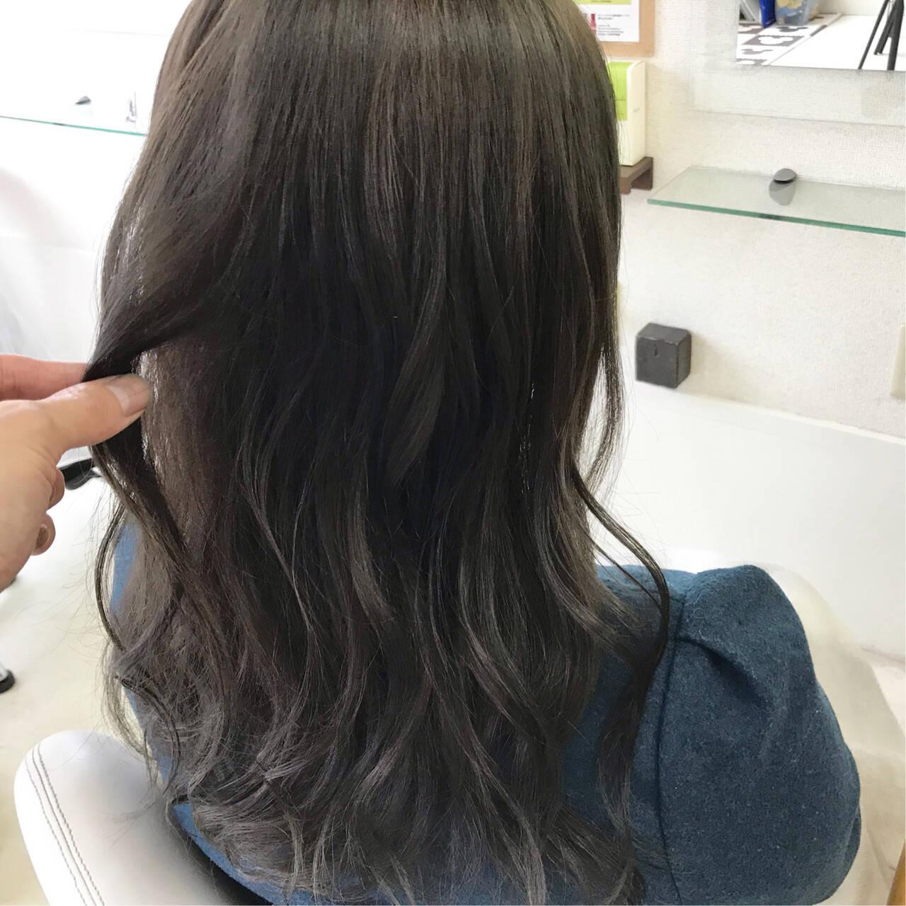 セミロング パーマ ヘアアレンジ アンニュイほつれヘアヘアスタイルや髪型の写真・画像
