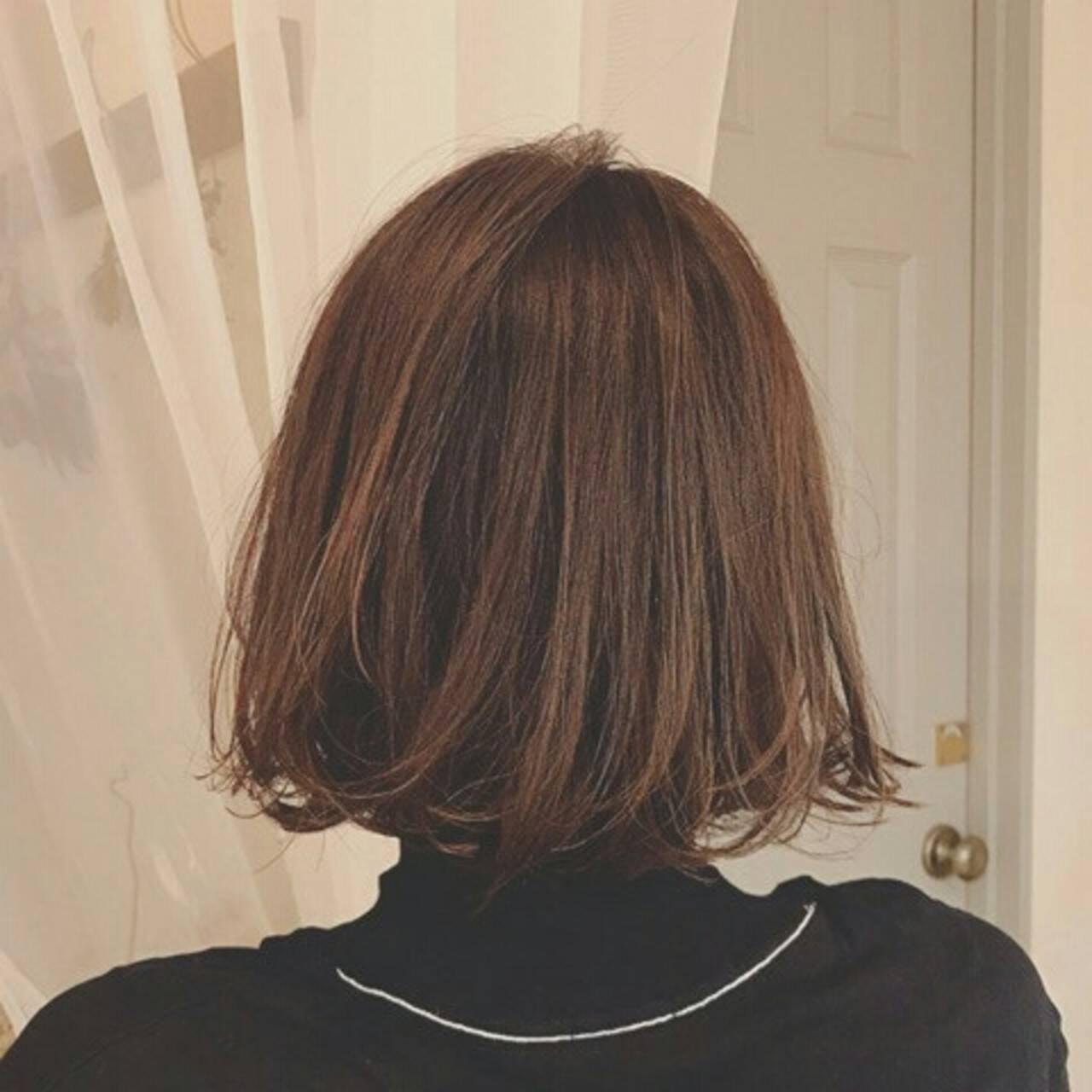 秋 ボブ 外国人風 冬ヘアスタイルや髪型の写真・画像