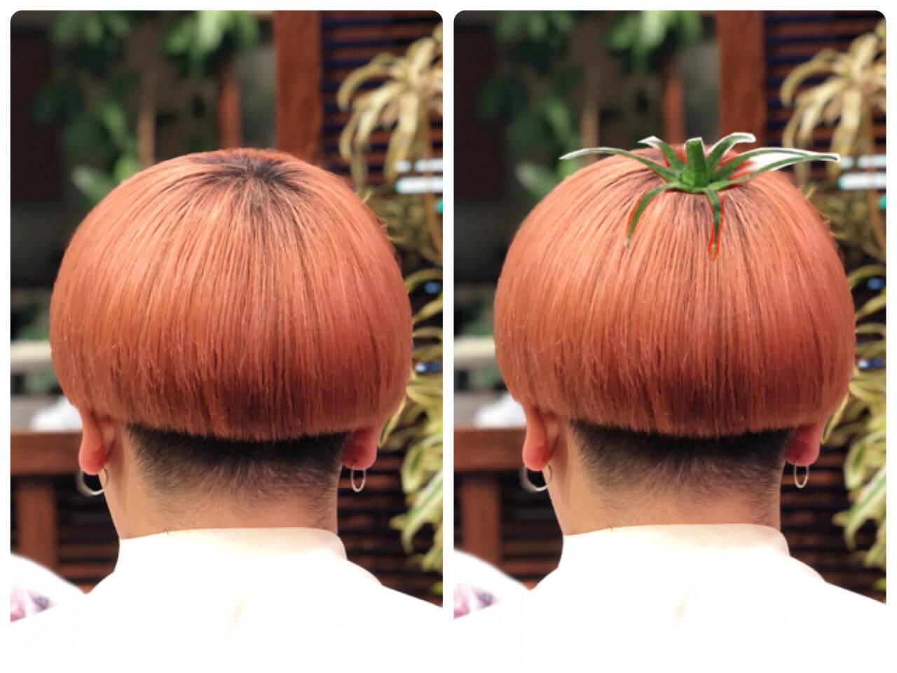 ショート カッパー 韓国風ヘアー 韓国ヘアヘアスタイルや髪型の写真・画像
