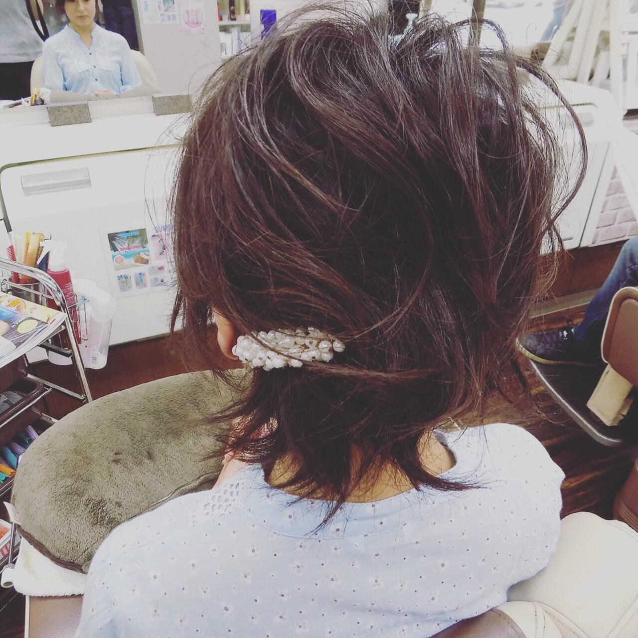 ゆるふわ ヘアアレンジ 編み込み 簡単ヘアアレンジヘアスタイルや髪型の写真・画像