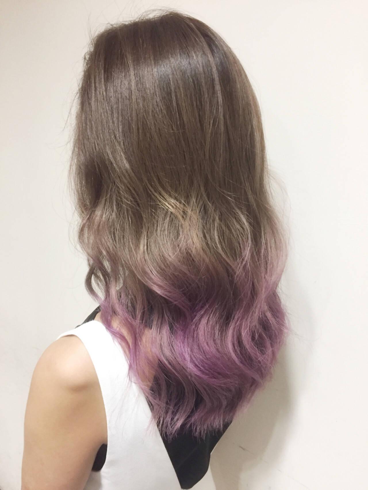 外国人風 ガーリー ピンク カラーバターヘアスタイルや髪型の写真・画像