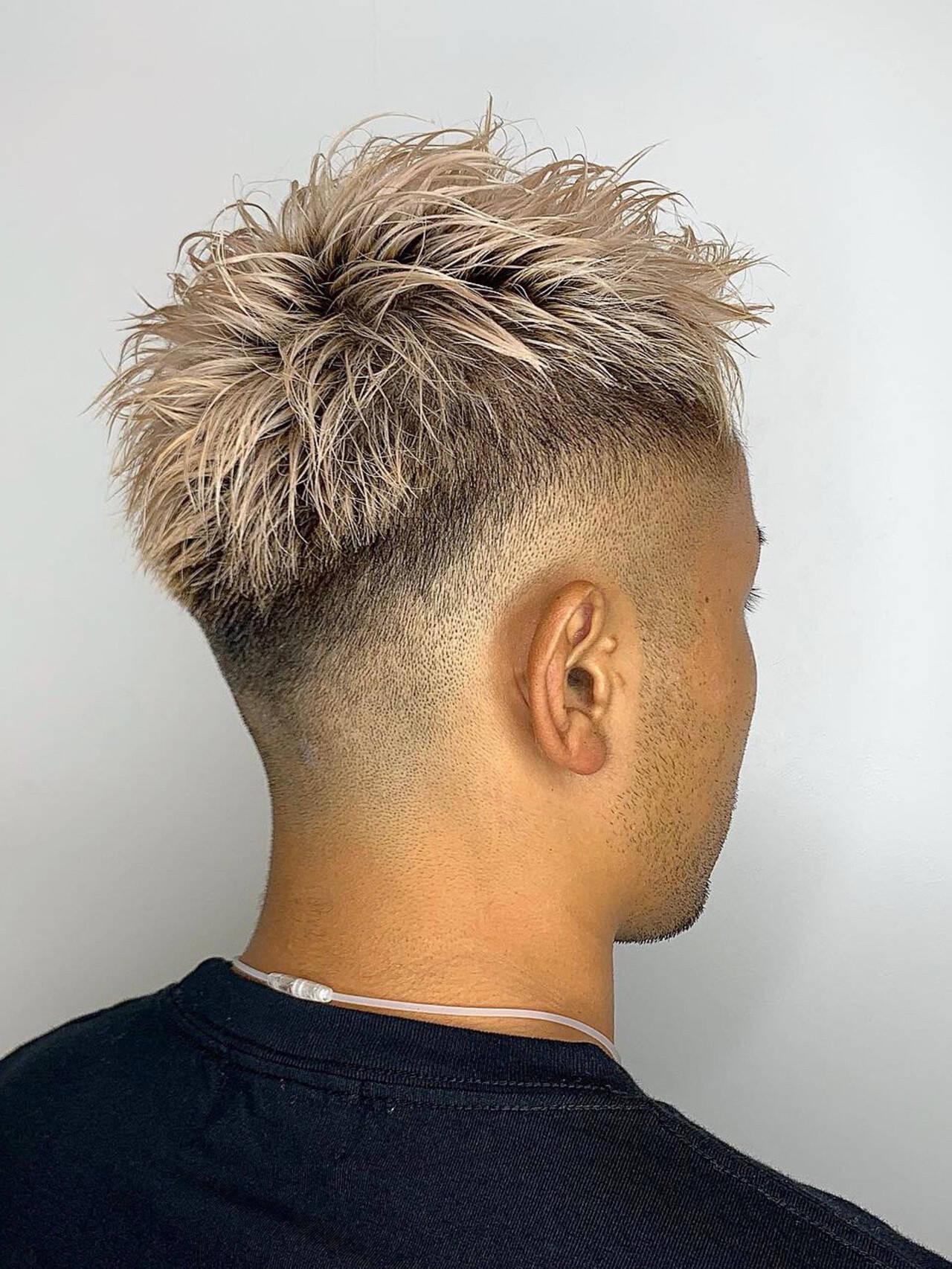 ストリート メンズヘア 刈り上げ 刈り上げショートヘアスタイルや髪型の写真・画像
