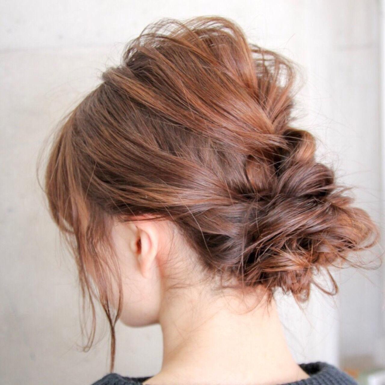 ショート 簡単ヘアアレンジ ヘアアレンジ 大人女子ヘアスタイルや髪型の写真・画像