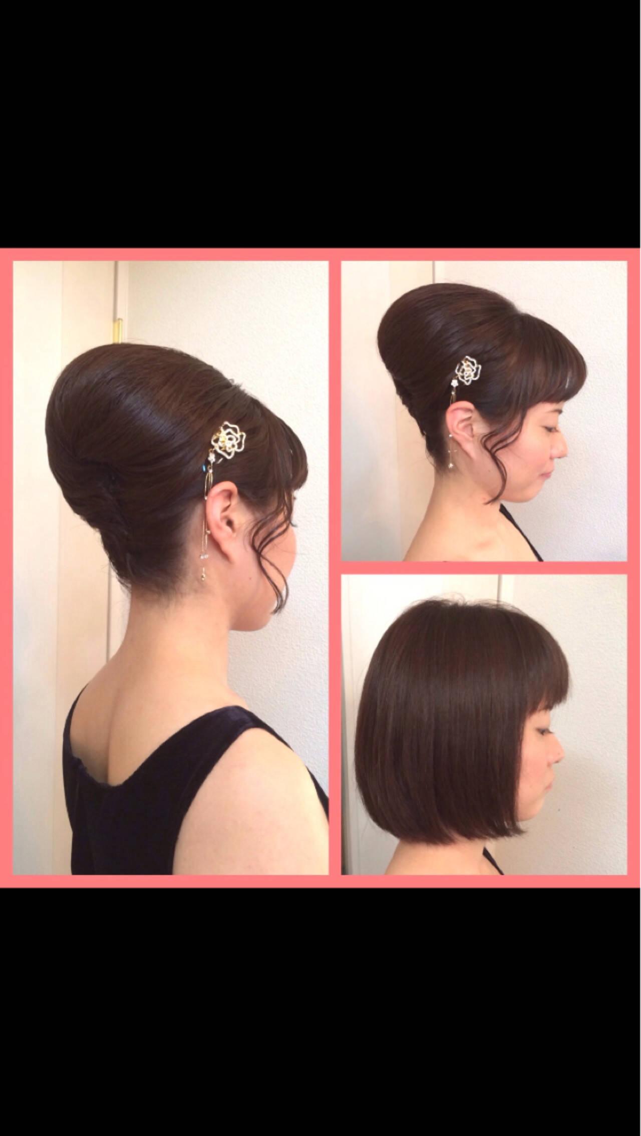 アップスタイル 和装 パーティ 結婚式ヘアスタイルや髪型の写真・画像