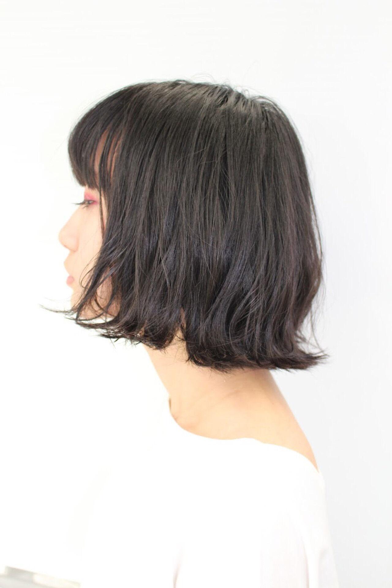 ゆるふわ 小顔ヘア ボブ 透明感ヘアスタイルや髪型の写真・画像
