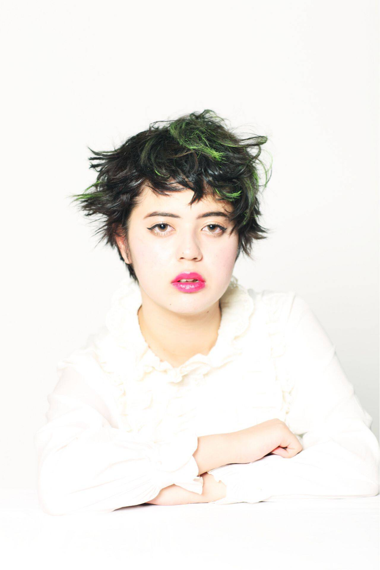 フェミニン ショート ストリート ガーリーヘアスタイルや髪型の写真・画像