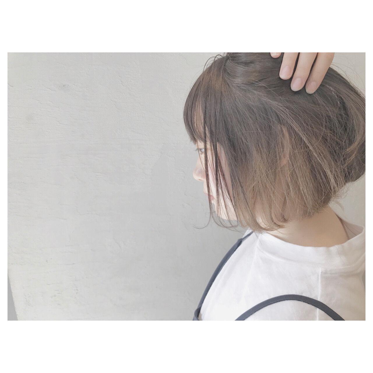 ボブ デート ストリート リラックスヘアスタイルや髪型の写真・画像