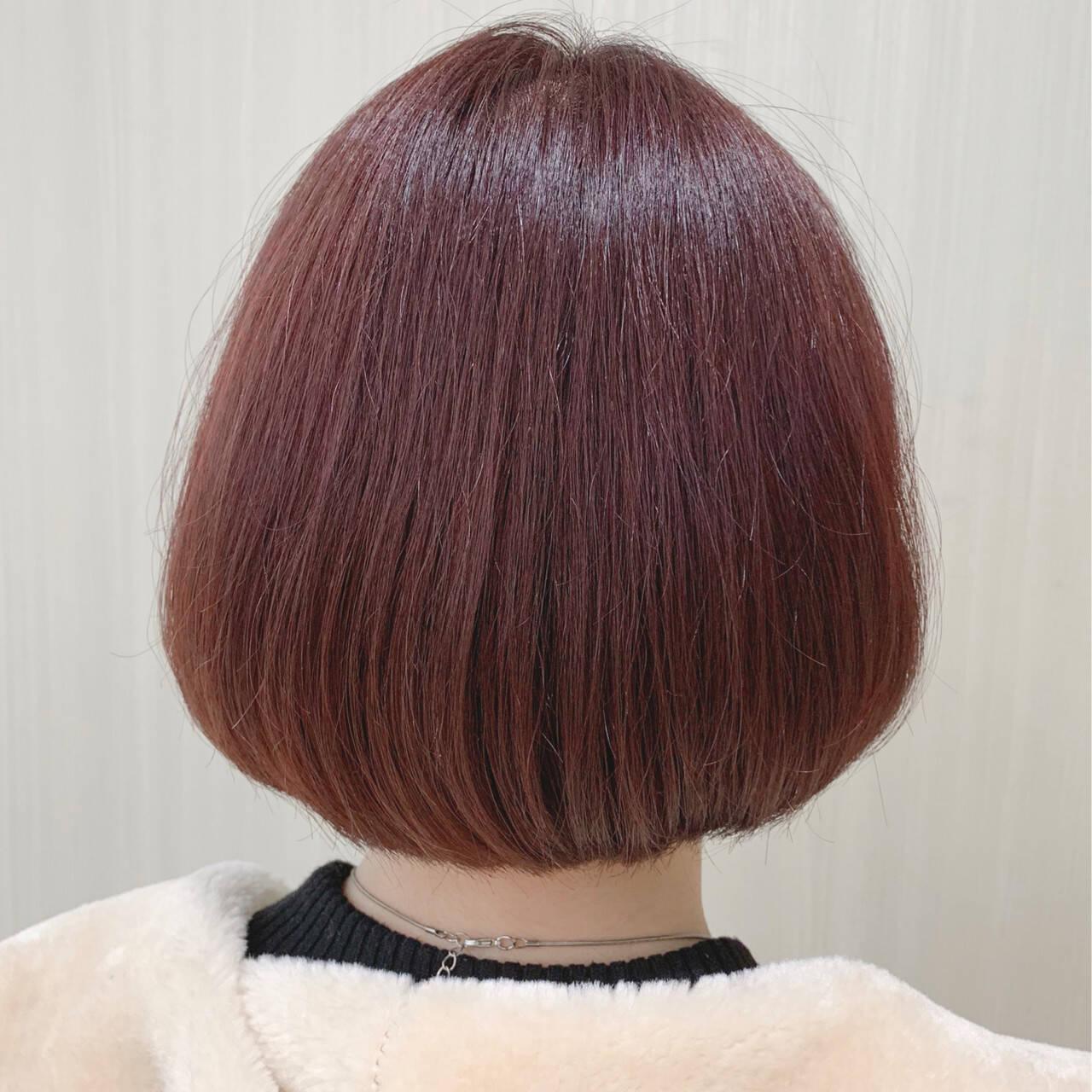 ボブ ワンレングス ストレート ナチュラルヘアスタイルや髪型の写真・画像