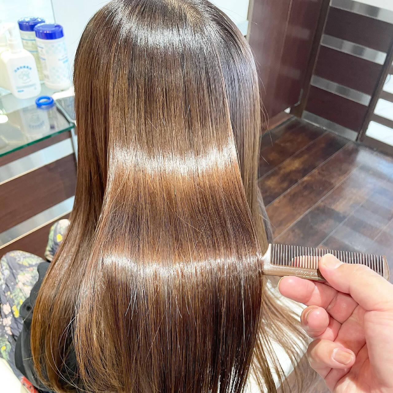 ナチュラル 最新トリートメント 髪質改善 髪質改善トリートメントヘアスタイルや髪型の写真・画像