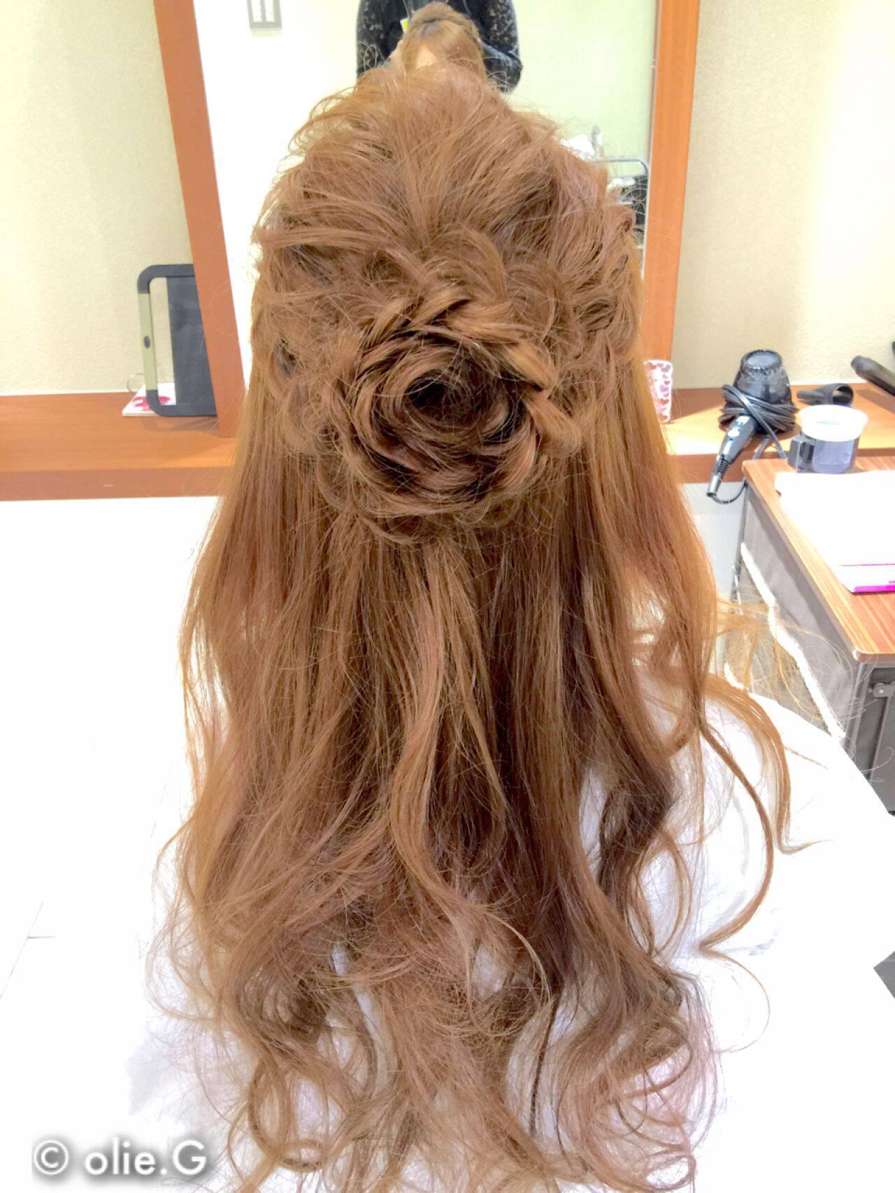 結婚式 ヘアアレンジ 愛され コンサバヘアスタイルや髪型の写真・画像
