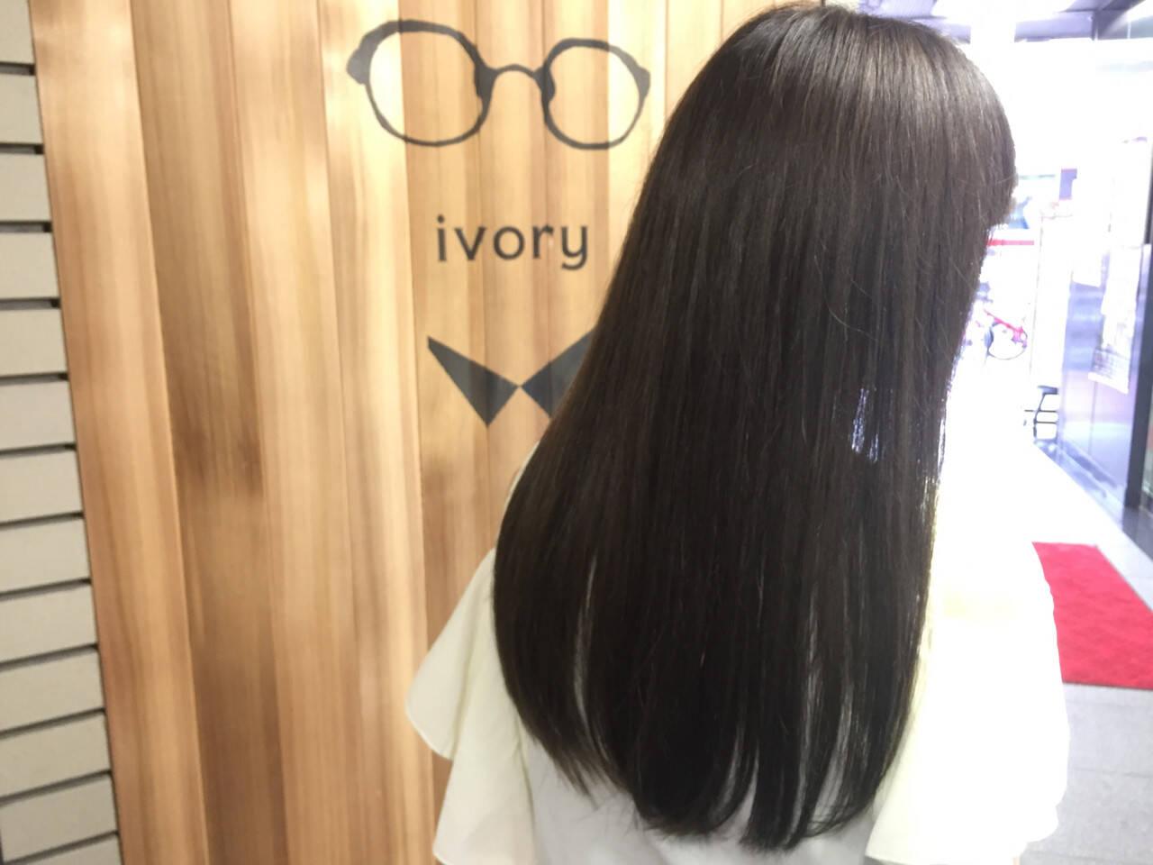外国人風 アッシュ 黒髪 暗髪ヘアスタイルや髪型の写真・画像