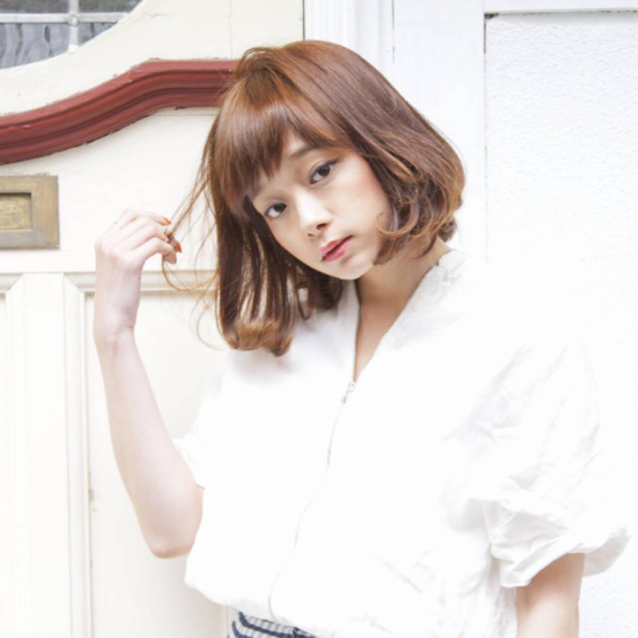 前髪あり 色気 フェミニン ボブヘアスタイルや髪型の写真・画像