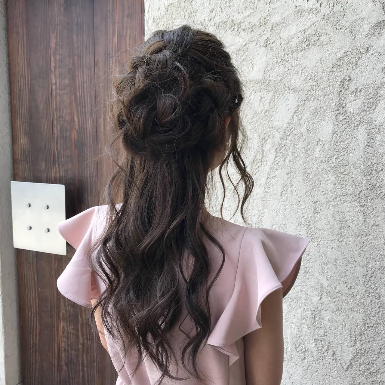 パーティ ロング デート ヘアアレンジヘアスタイルや髪型の写真・画像