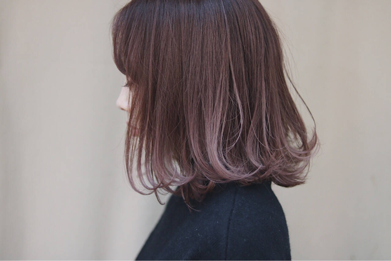 イルミナカラー オルチャン ナチュラル ピンクヘアスタイルや髪型の写真・画像