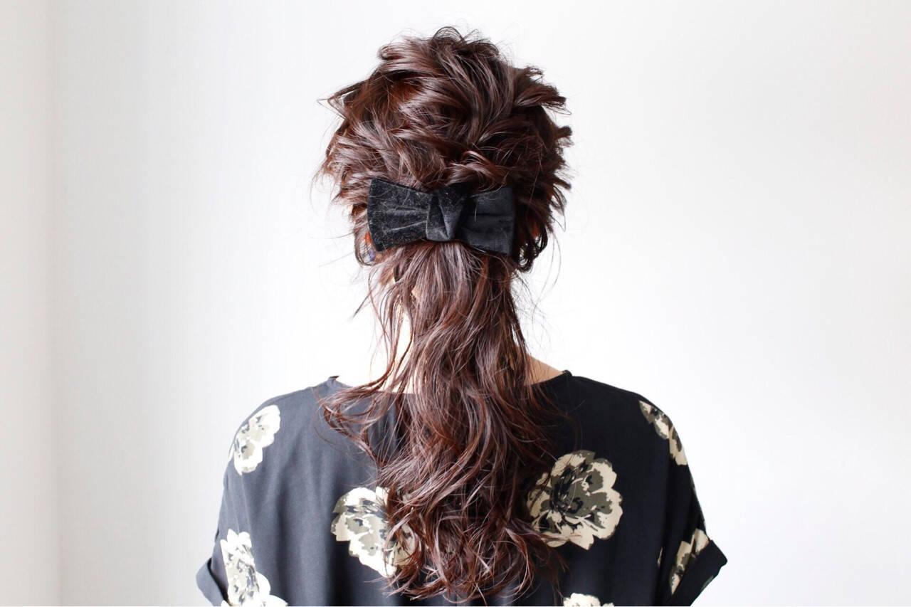 結婚式 ロング ヘアアレンジ 簡単ヘアアレンジヘアスタイルや髪型の写真・画像