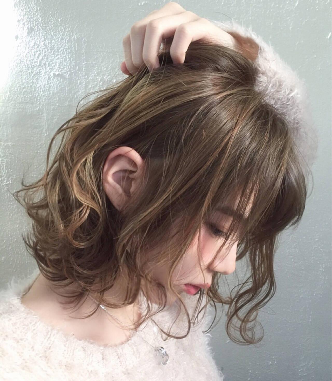 大人かわいい アッシュ 外国人風 ボブヘアスタイルや髪型の写真・画像