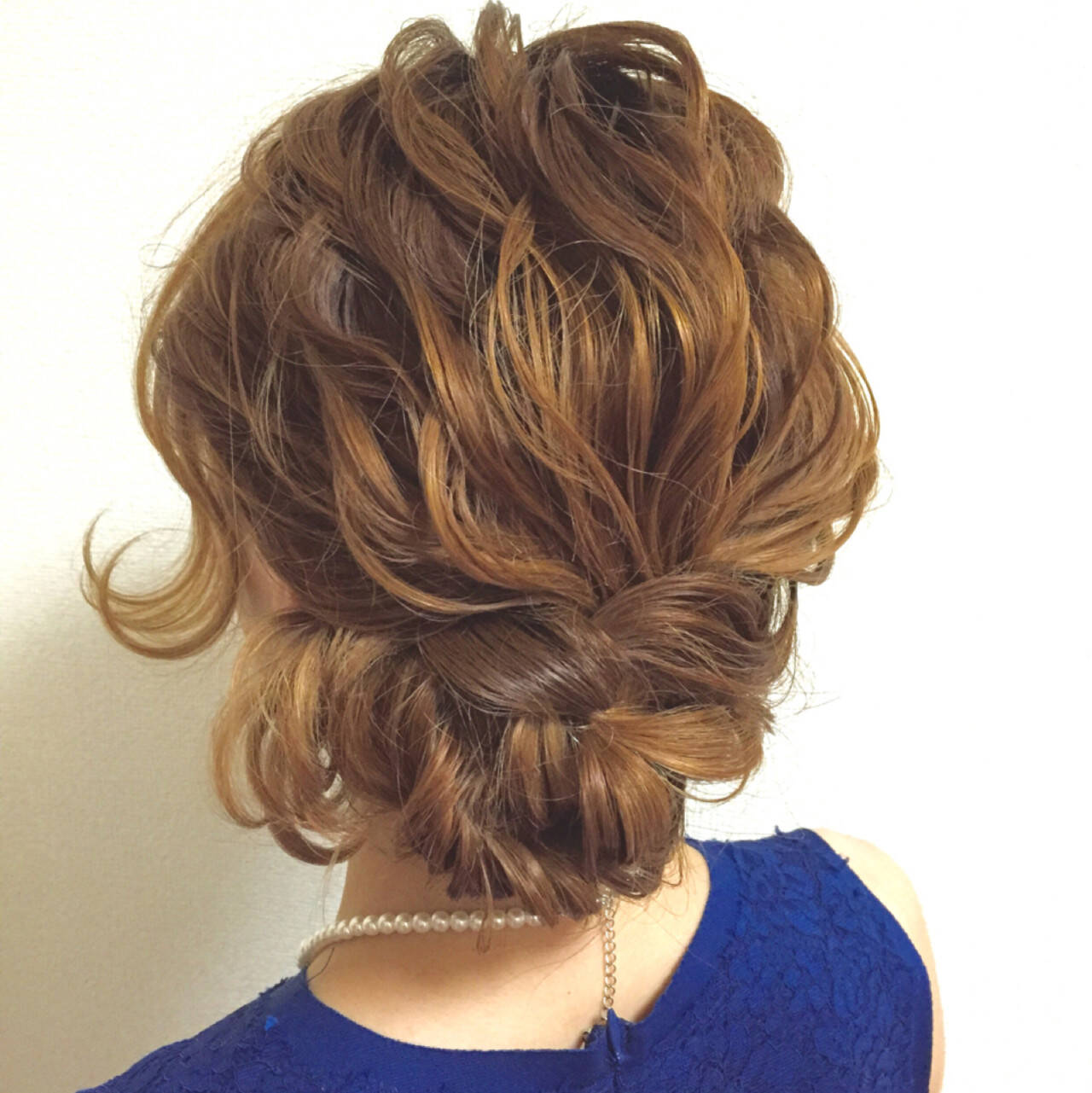 簡単ヘアアレンジ ショート ミディアム ヘアアレンジヘアスタイルや髪型の写真・画像