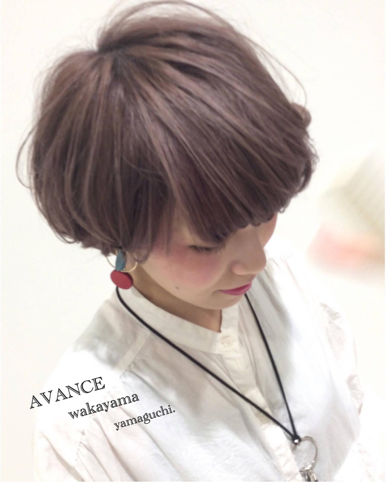 モード ブリーチ ショート ハイライトヘアスタイルや髪型の写真・画像
