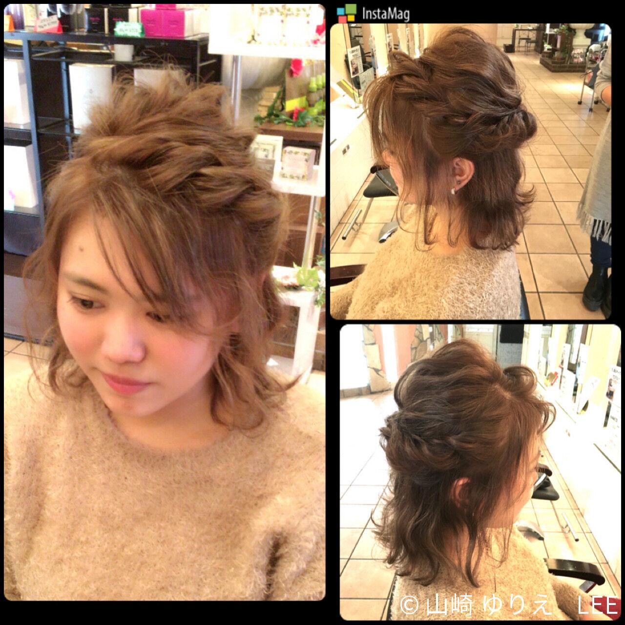 外国人風 ヘアアレンジ ハーフアップ ゆるふわヘアスタイルや髪型の写真・画像