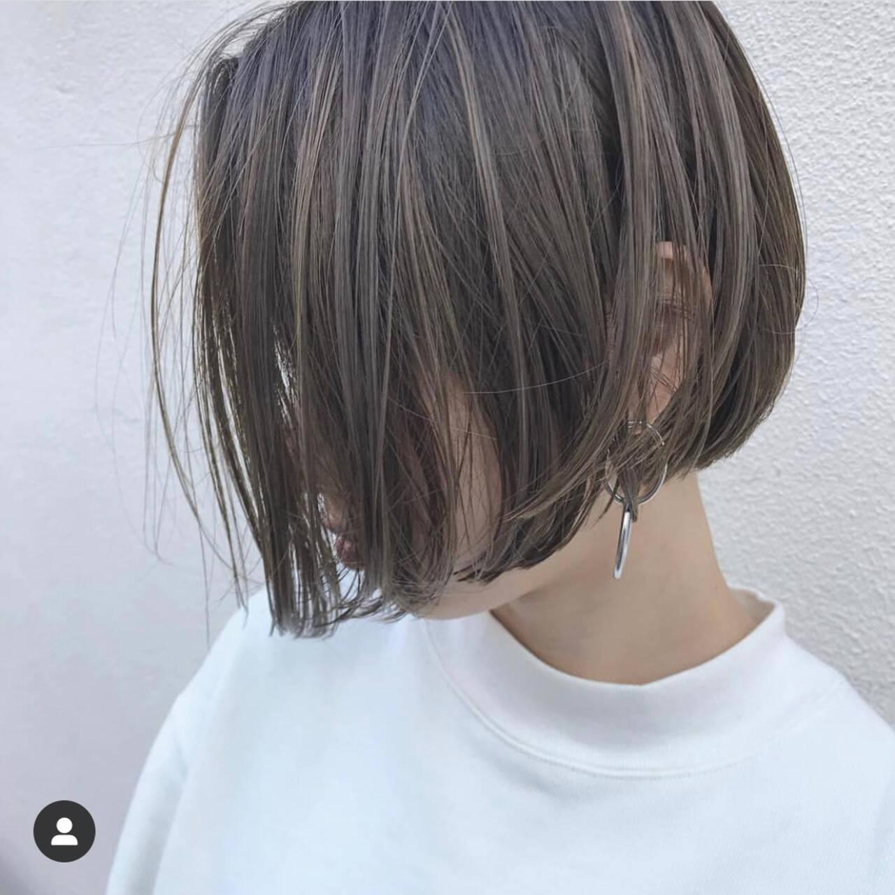 ミニボブ ベリーショート ナチュラル ショートボブヘアスタイルや髪型の写真・画像