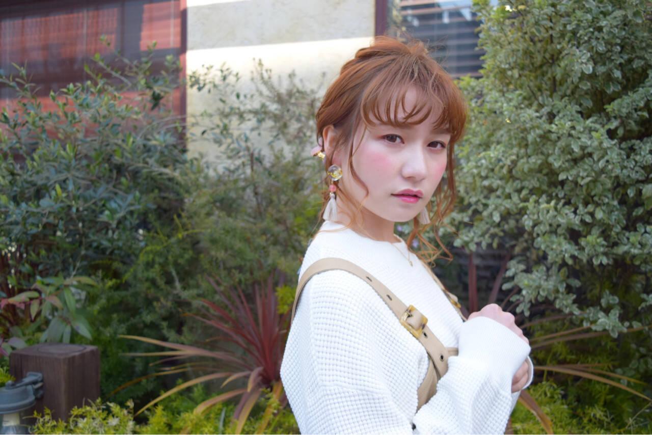 ヘアアレンジ ミディアム デート 簡単ヘアアレンジヘアスタイルや髪型の写真・画像