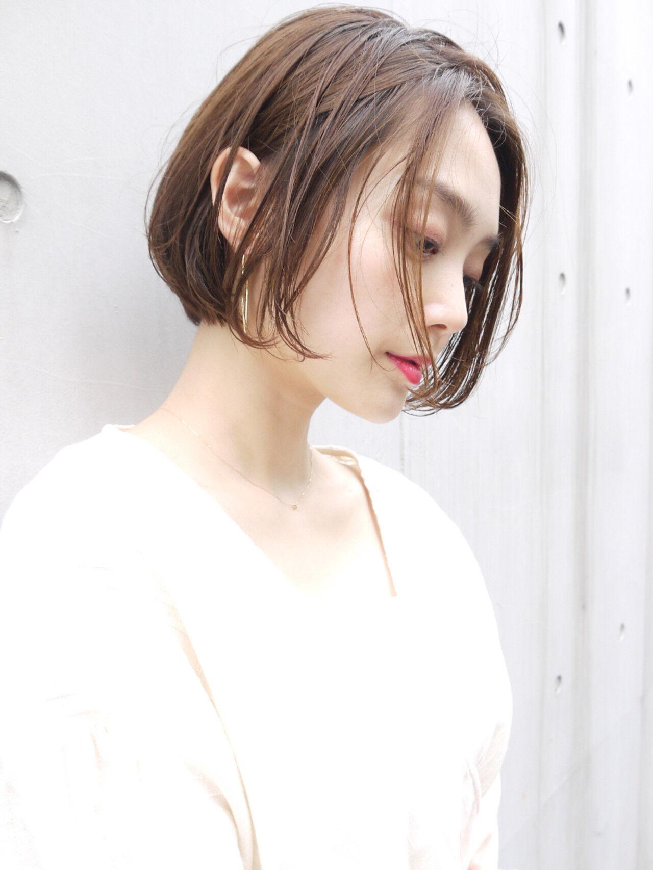 ショートボブ コンサバ オフィス 女子力ヘアスタイルや髪型の写真・画像