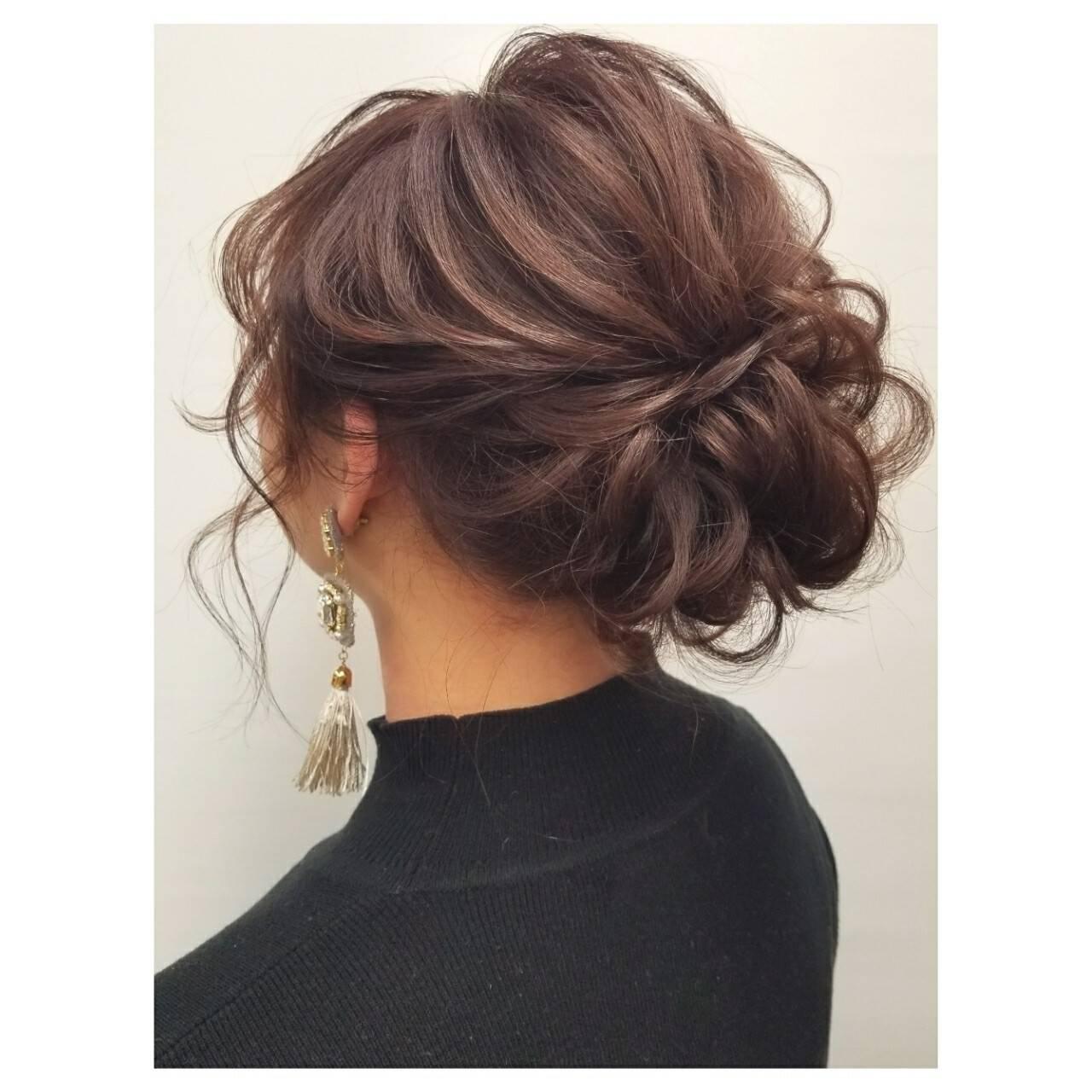 成人式 謝恩会 フェミニン デートヘアスタイルや髪型の写真・画像