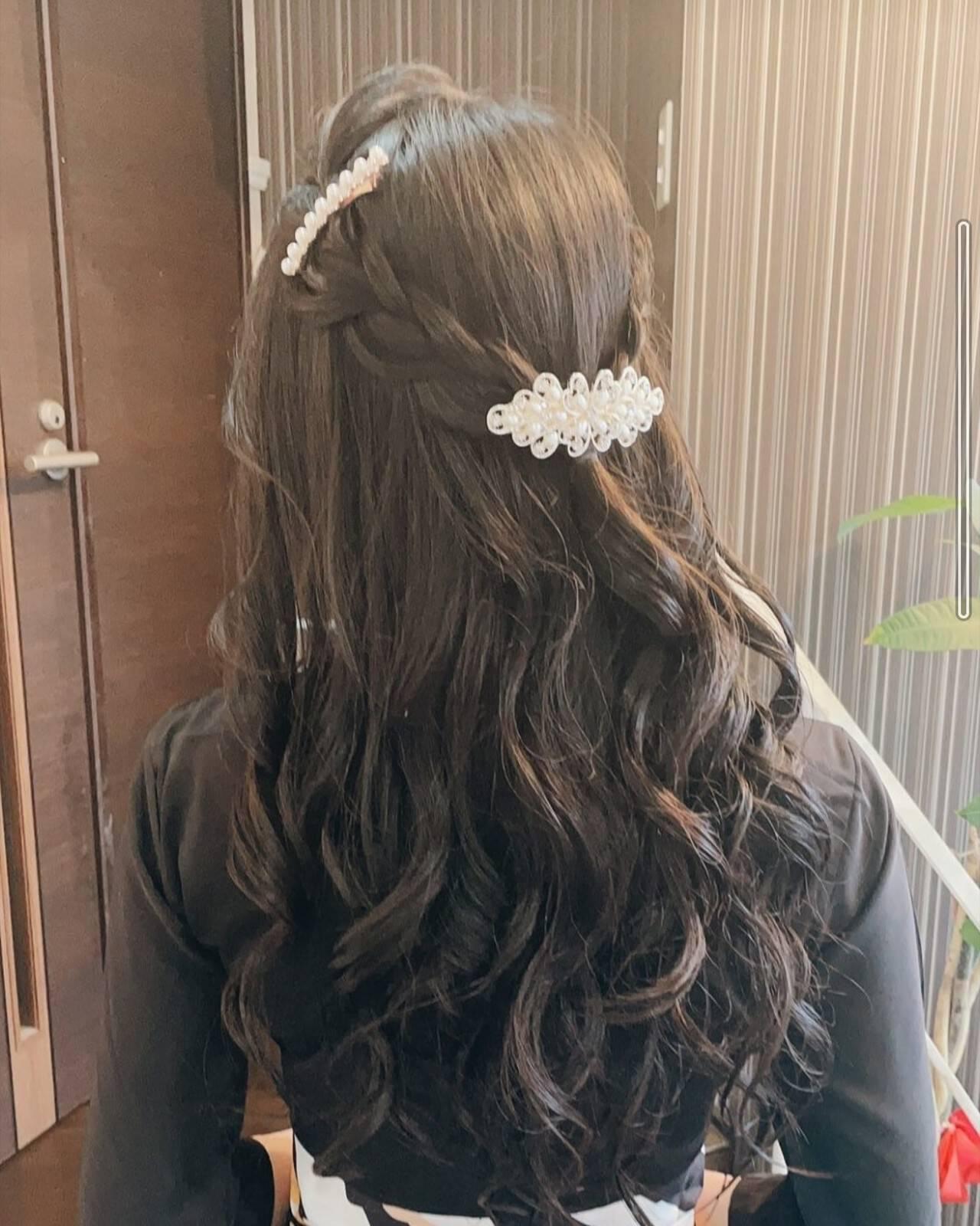 簡単ヘアアレンジ ヘアアレンジ 編み込み 編み込みヘアヘアスタイルや髪型の写真・画像