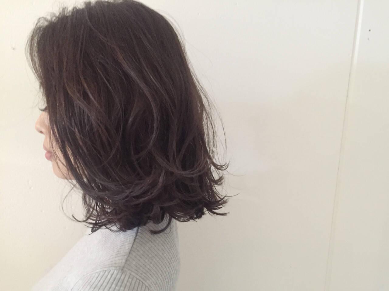 色気 グラデーションカラー ハイライト ボブヘアスタイルや髪型の写真・画像