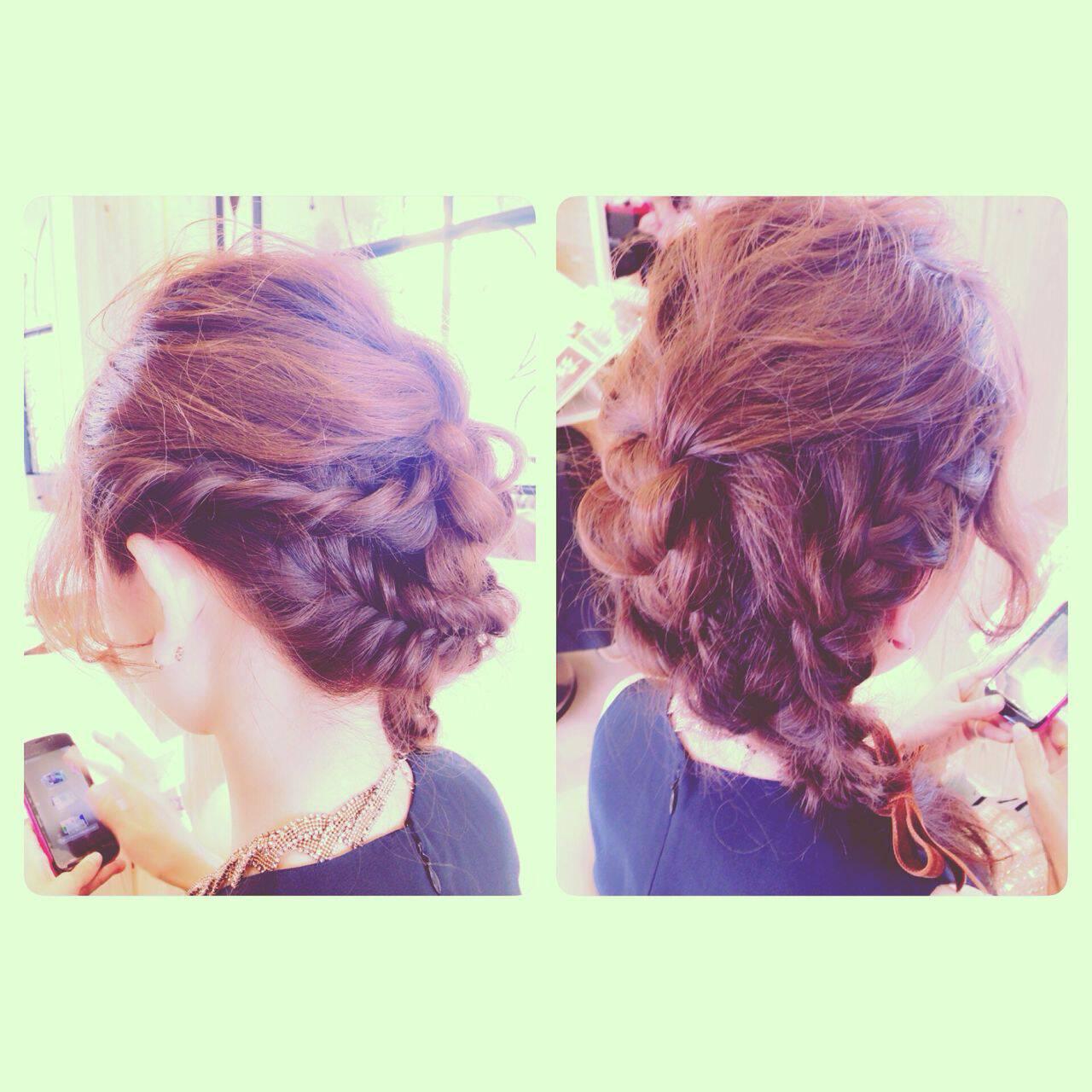 モテ髪 ヘアアレンジ コンサバ パーティヘアスタイルや髪型の写真・画像