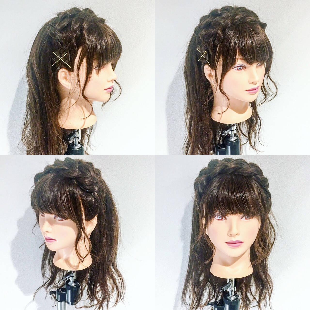 ルーズ デート カチューシャ ヘアアレンジヘアスタイルや髪型の写真・画像
