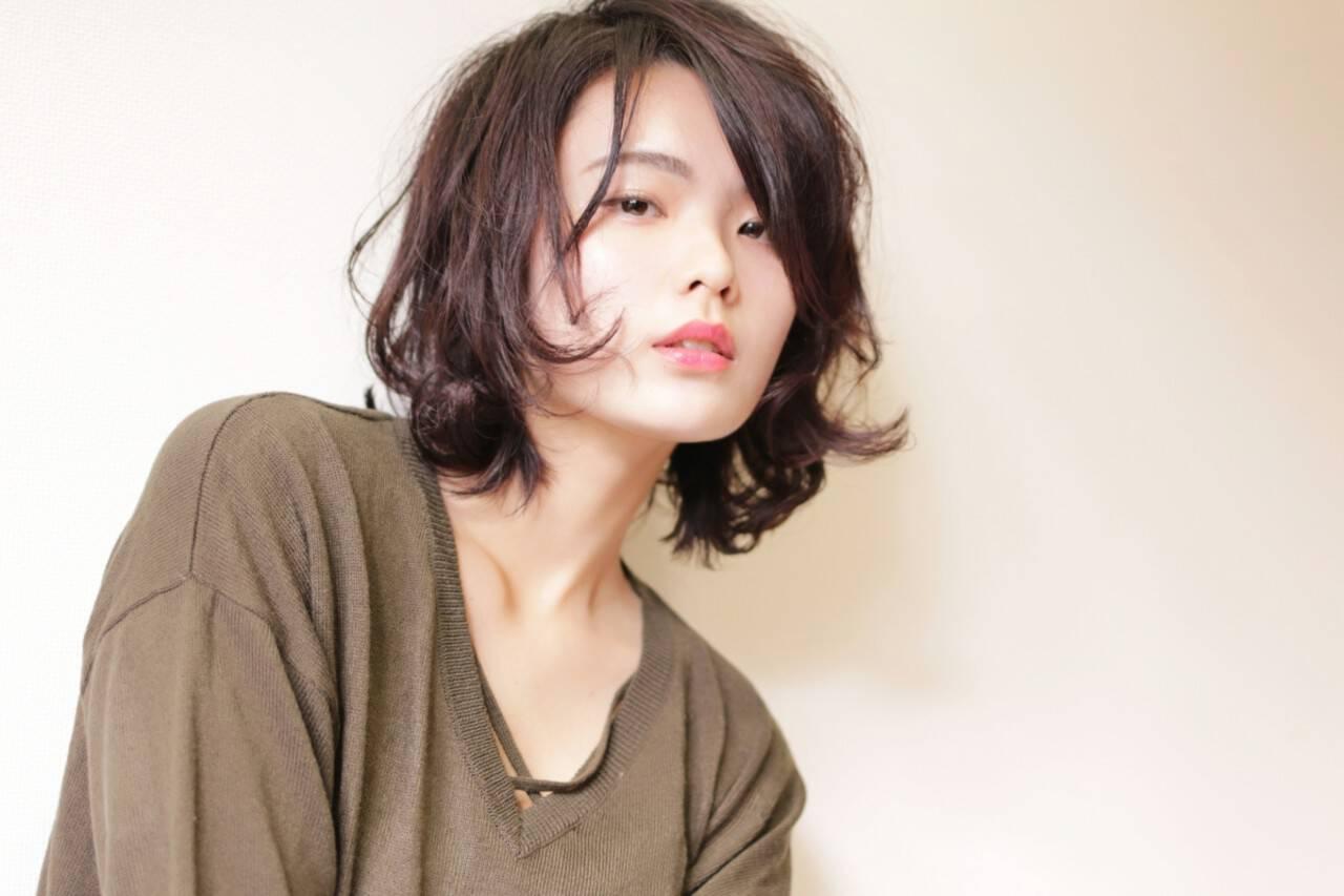 抜け感 外ハネ ウェットヘア 簡単ヘアスタイルや髪型の写真・画像