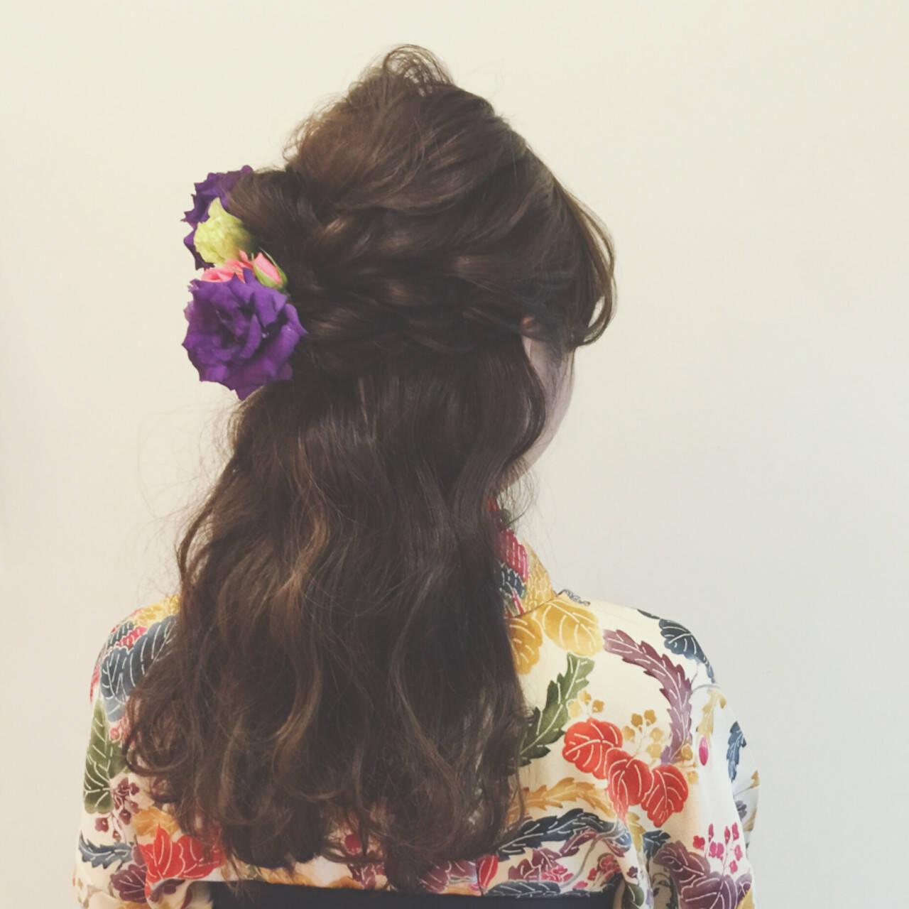 ショート 大人かわいい ヘアアレンジ ハーフアップヘアスタイルや髪型の写真・画像