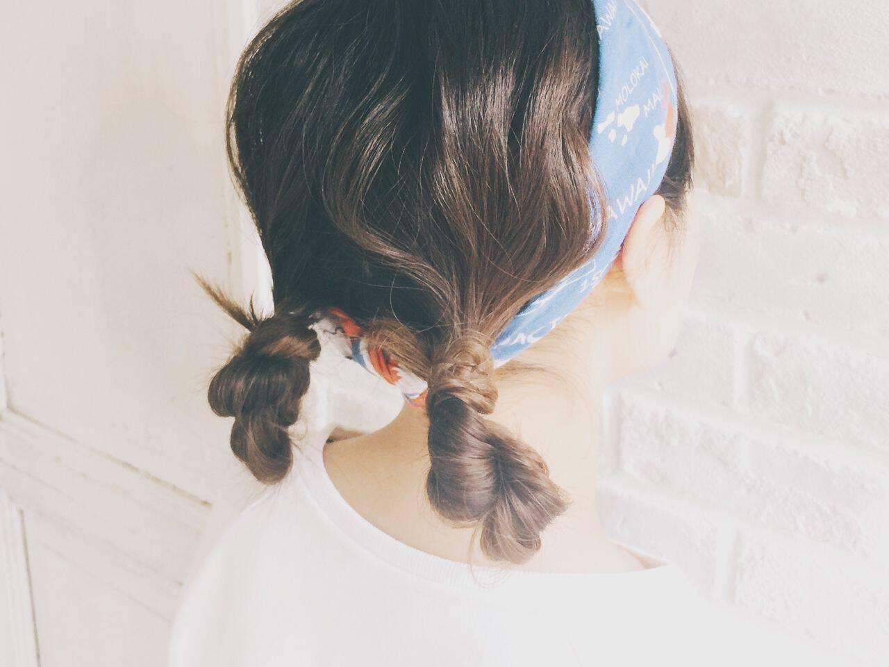 抜け感 ヘアアレンジ お団子 簡単ヘアアレンジヘアスタイルや髪型の写真・画像