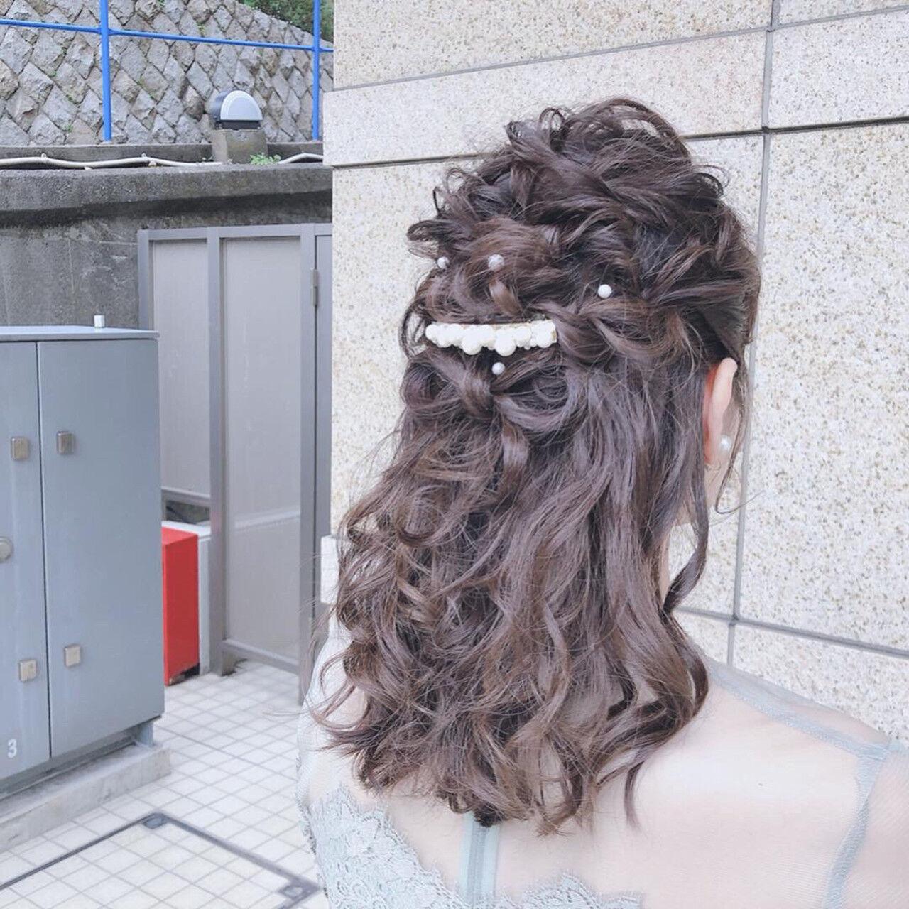 簡単ヘアアレンジ アウトドア ヘアアレンジ 結婚式ヘアスタイルや髪型の写真・画像