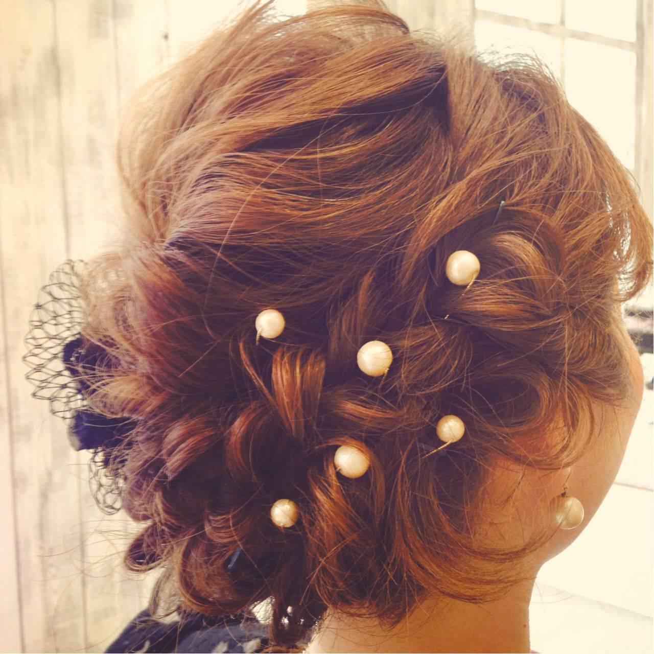コンサバ 編み込み モテ髪 アップスタイルヘアスタイルや髪型の写真・画像
