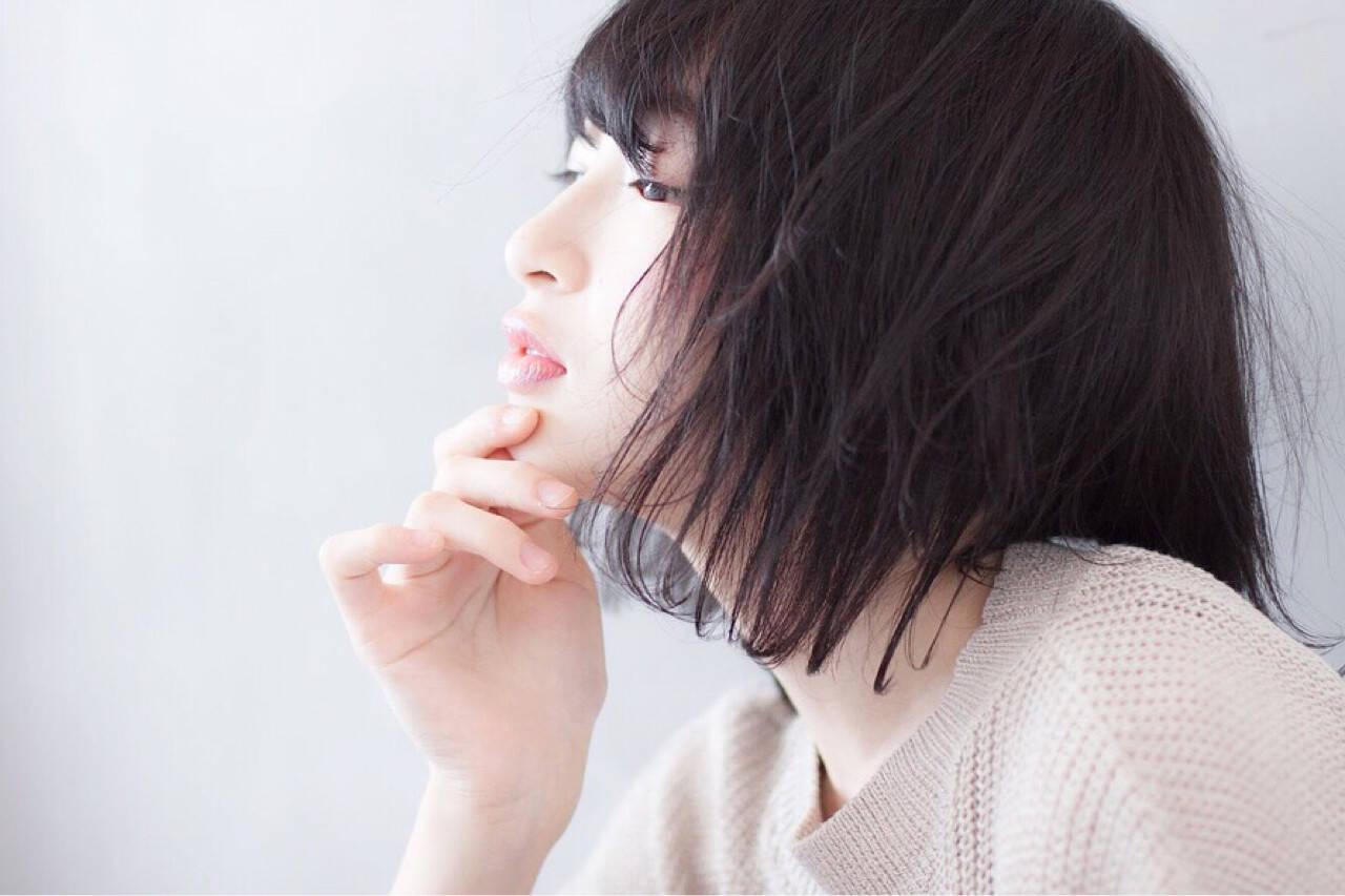 小顔 秋 色気 こなれ感ヘアスタイルや髪型の写真・画像