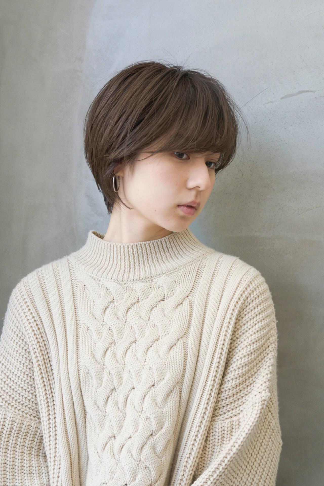 モテ髮シルエット ショート ラフ お手入れ簡単!!ヘアスタイルや髪型の写真・画像