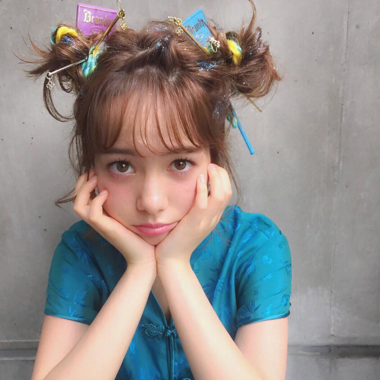 ハーフアップ 外国人風 簡単ヘアアレンジ ヘアアレンジヘアスタイルや髪型の写真・画像