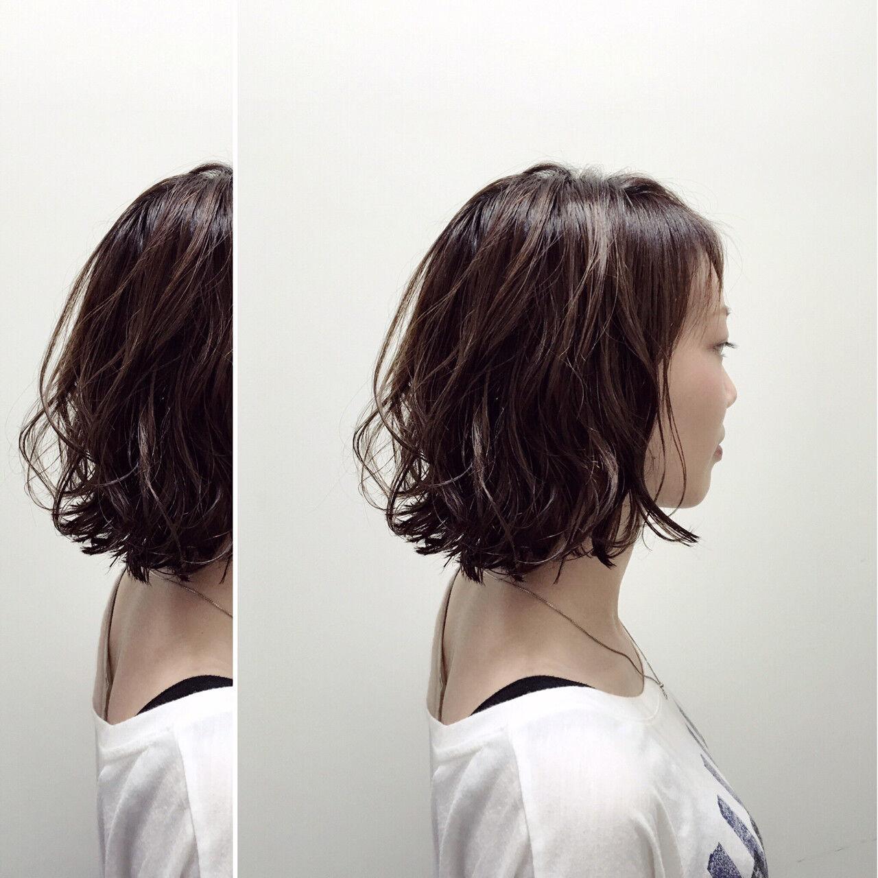 ストリート ウェットヘア 外国人風 ボブヘアスタイルや髪型の写真・画像