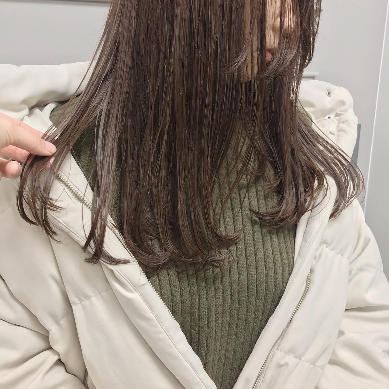 セミロング 大人カジュアル 福岡市 ツヤ髪ヘアスタイルや髪型の写真・画像