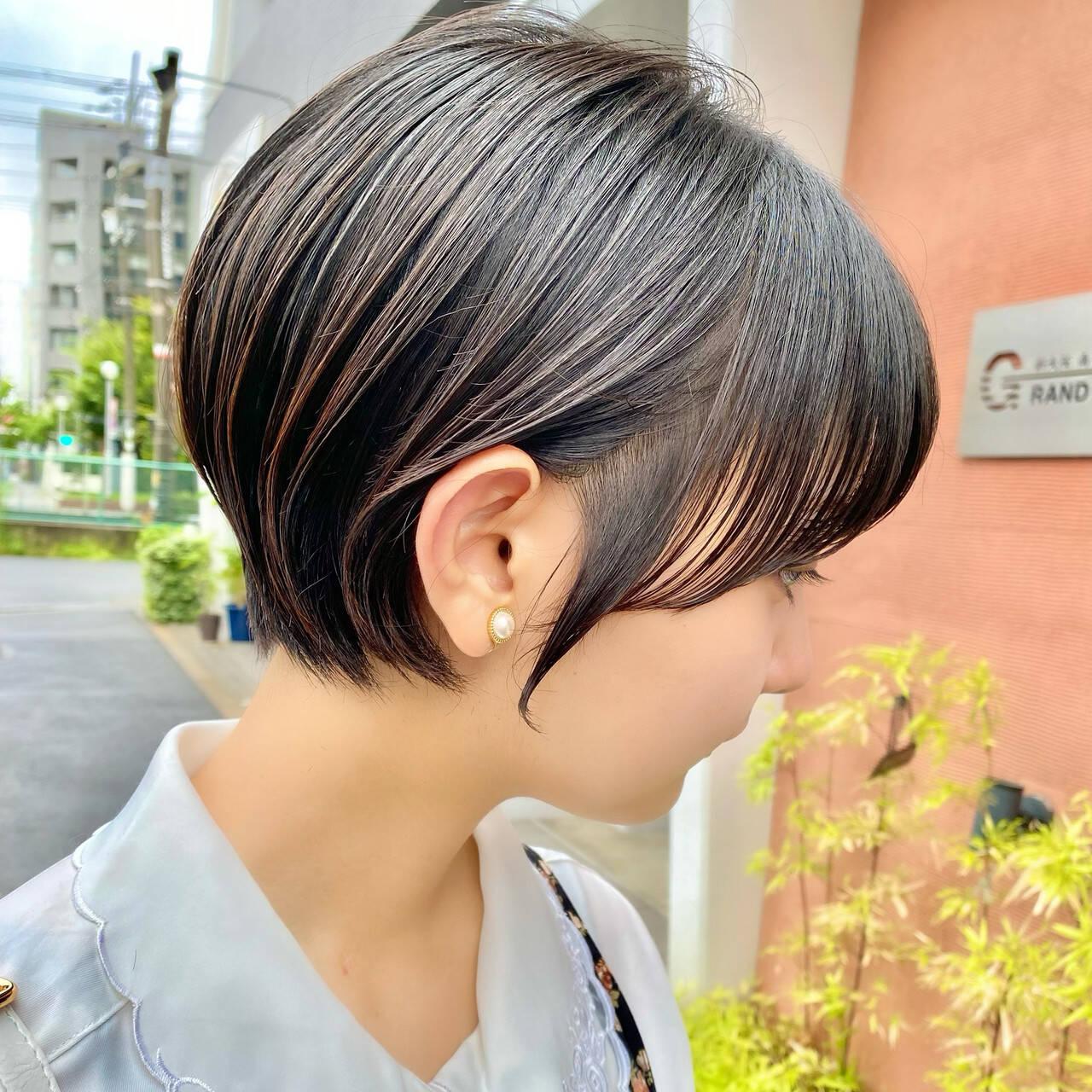 ショート ミニボブ ベリーショート ショートボブヘアスタイルや髪型の写真・画像