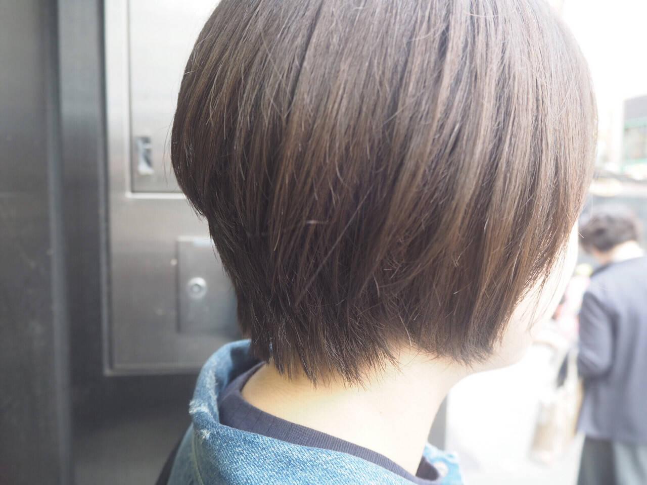 ショート 小顔 ボブ ショートボブヘアスタイルや髪型の写真・画像