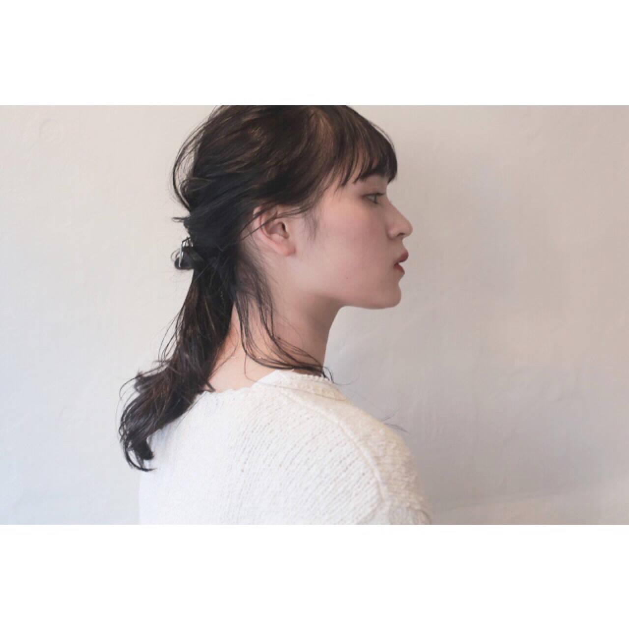 デート ウェーブ ヘアアレンジ ナチュラルヘアスタイルや髪型の写真・画像