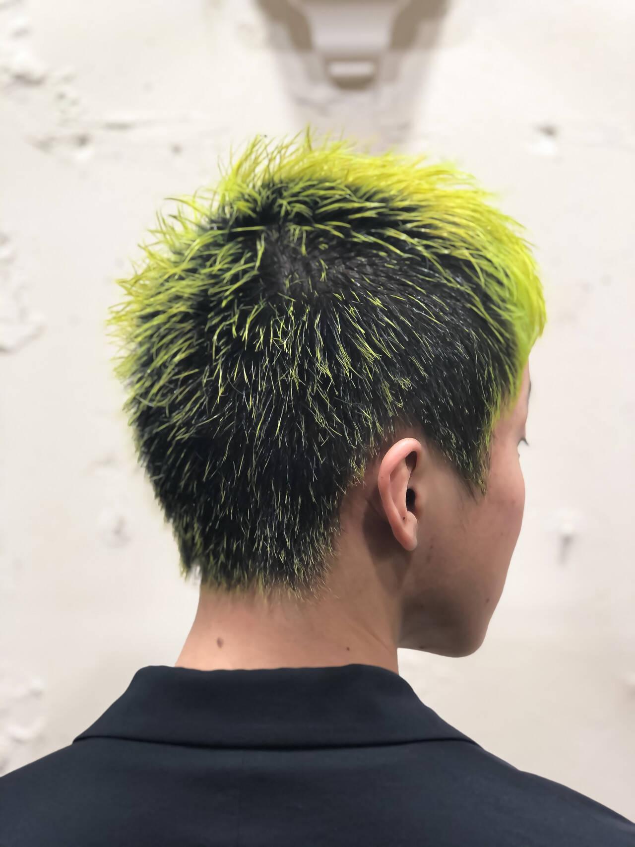 ストリート メンズ メンズカラー 派手髪ヘアスタイルや髪型の写真・画像
